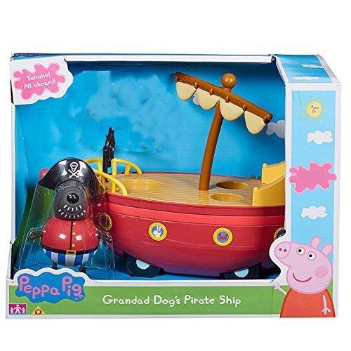 Character Optiions Peppa Pig Grandad Dog Pirate Boat Ship Playset