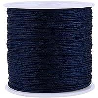 10m.reissfeste Schmuckschnur Bastelschnur Nylon 1mm blau weiss oder schwarz /%/%/&/%