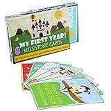 Tarjetas de eventos de Baby Milestone - Paquete de 40 Tarjetas Ilustradas de Colores - Perfectas Para Recién Nacidos, Mamá Futura, Baby Shower Presente - Con una Hermosa Caja de Regalo