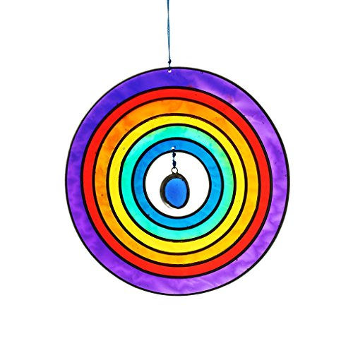 Fensterschmuck Windspiel Suncatcher Kreis Mehrfarbig 13 cm
