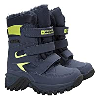 Mountain Warehouse Chill Junior Waterproof Snow Boots - Breathable, Mesh Upper, Hook & Loop Fittings - Isotherm Heat Retention Technology - for Cold Winter Weather