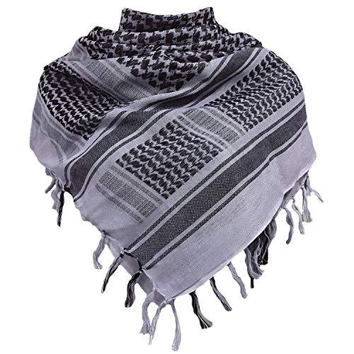 Chalier Militar Shemagh táctica desierto 100% algodón Keffiyeh bufanda Wrap