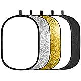 "Neewer 88008128 - Kit oval reflector/difusor plegable para iluminación fotográfica 5 en 1 portátil, 24 x 36""/ 60 x 90 cm"