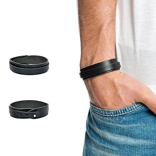 Stylez-Connection Lederarmband Herren Canton Leder Armband größenverstellbar, schwarz, braun oder weiß