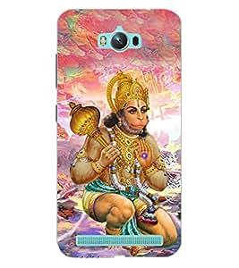 ColourCraft Lord Hanuman Design Back Case Cover for ASUS ZENFONE MAX ZC550KL