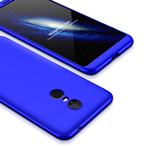 HRV Front & Back Case for Mi Redmi Note 4 (3-in-1) Slim Fit Complete 3D 360 Degree Protection Bumper (Full Blue)