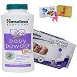 Himalaya Herbals Baby Powder (200g)+Himalaya Herbals Soothing Baby Wipes (72 Sheets) With Happy Baby Luxurious Kids Soap With Toy (100gm)