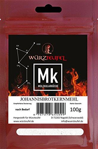 Johannisbrotkernmehl, Bockshörndlbaum-Mehl, E410 aus Spanien. Glutenfrei. 2 Beutel je 50g. (100g.)