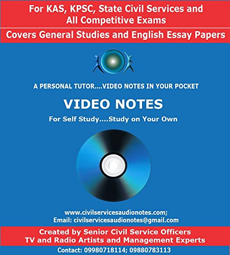 KAS, KPSC - State Civil Services Preliminary and Main Exams Video Notes (DVD)