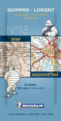 Quimper Centenary Maps - Pack 013 (Michelin Historical Maps) por Michelin
