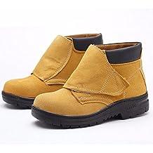 Soldador soldadura zapatos para hombres de cuero zapatos de los deportes al aire libre trabajo calzado