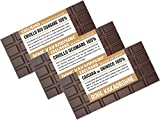 Edelmond Exklusiv - Seltene Kakaobohnen-Sorten, Bio 100% Kakao - Schokoladen-Paket, handwerklich hergestellte und sehr herbe Tafeln, Single Origin