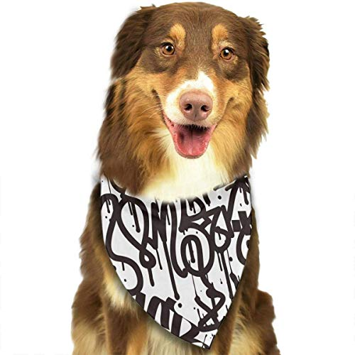 t Pet Bandana Washable Reversible Triangle Bibs Scarf - Kerchief for Small/Medium/Large Dogs & Cats ()
