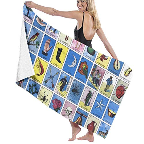 sd4r5y3hg Bath Towel Microfiber, Loteria Bath Towel Hand Towel Bath Towel Personalized 31\