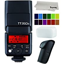 Godox Mini TT350N TTL Hss 2.4GHz Flash for Nikon Cameras - GN36 HSS(Max.1/8000s) 0.1-2.2s Recycle Time 210 Full Power Flashes 22 Steps of Power Output(1/1-1/128) 24-105mm Auto/Manual Zooming