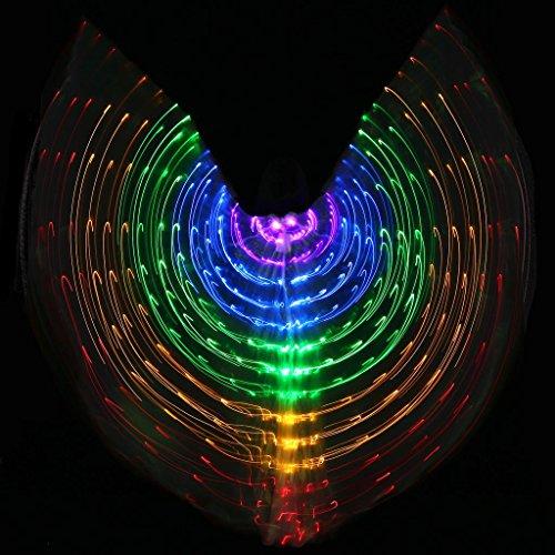 Mit Verstellbarem Stick Frauen Bauchtanz 5 Farbe Led Licht Glühend Isis Flügel 360 Grad Große Schmetterling Stützen Leistung Professionelle Outfit Kostüm . 2# . (Für Kostüme Dance Verkauf Verwendet Latin)