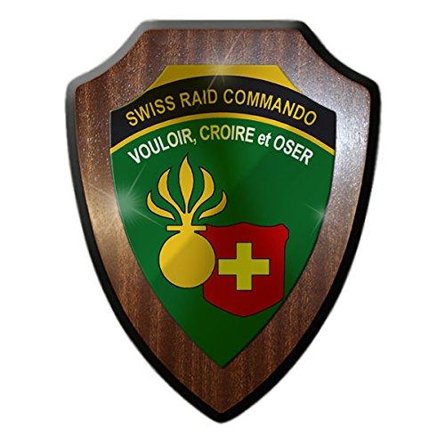 Wappenschild original-swiss/raid commando_schweizer international militärwettkampf l'armée suisse infanterie crest badge logo vouloire militaire armée de terre et oser#14240 croire
