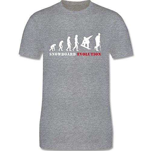Evolution - Snowboard Evolution - Herren Premium T-Shirt Grau Meliert