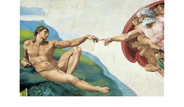 XXLPoster Die erschaffung des Adam  Michelangelo Sixtinische