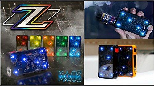 Preisvergleich Produktbild Authentisch Sigelei Kaos Z 200W Mod Mit transparenten visuellen Schaltungen,  blinkende Lichter (Schwarz (2 x 3000mAh 40A Batterien im Lieferumfang enthalten))