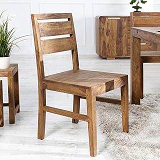 ambientica Stuhl Esszimmerstuhl Küchenstuhl Elegance 45x45x90cm massiv Palisander (Sheesham/Shisham) - Poliert & Lackiert - Designermöbel