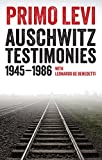 Front cover for the book Auschwitz Testimonies: 1945-1986 by Primo Levi