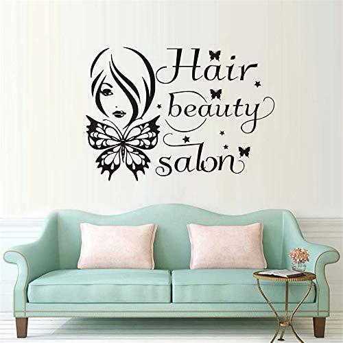 eauty Salon Decals Butterfly Bow Decor Home Decor ()