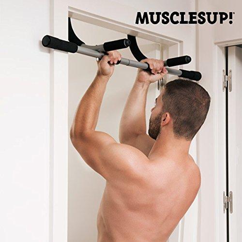 Apolyne Muscles Up Barra de Dominadas, Unisex Adulto, Negro, Talla Única