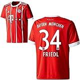 adidas FC Bayern München FCB Kinder Home Trikot 2017 2018 Heimtrikot Marco Friedl 34 Gr 140