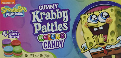 Krabby Patties Gummy Colors Theater Box, 12er Pack  (12 x 72g )