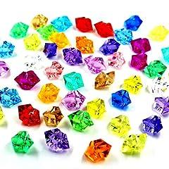 Idea Regalo - Ayrio 250pcs cristalli acrilici rocce di ghiaccio pietre colorate per riempitivi vaso, dispersione di tabella, favore di partito, decorazione di nozze, arte e artigianato (multicolore)