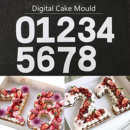 DIY Backen 0-Zahl 8Kuchen Buchstabe Love Herz Form Kuchenform Schneiden Vorlage für Geburtstag Hochzeitstag 20 cm Number 0-8