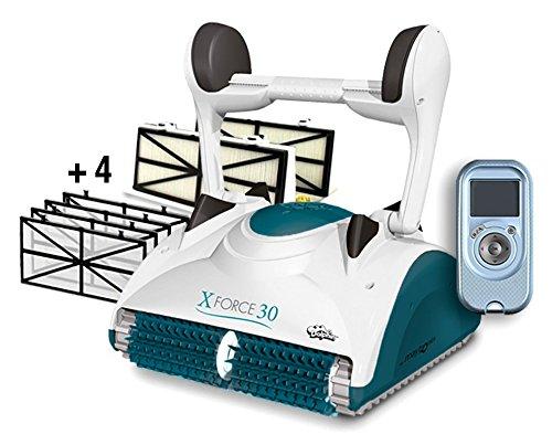 Dolphin Maytronics X Force 30 Digital con RADIOCOMANDO - Robot Elettrico Pulitore per Piscina fino a 15 Mt - Doppia Filtrazione - NOVITA'