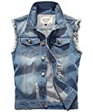 YOUTHUP Herren Jeans Denim Weste fashion