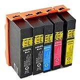 5 Tintenpatronen für HP 364 Photosmart e-All-in-One 5510 / 5514 / 5515 / 5520 / 6510 / 6520 / 7510 / 7520