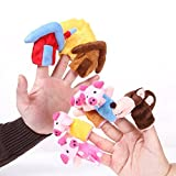 #10: Fancydreswale 8Pcs Story Time Finger Puppets - The Three Little Pigs Educational Puppets