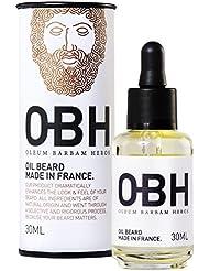 Huile à Barbe 100 % Naturelle OBH ® ● Le Soin Premium pour Homme ● Faites confiance à Mère Nature pour Nourrir et Sublimer votre Barbe ● Parfum Frais et Léger ● Made in France