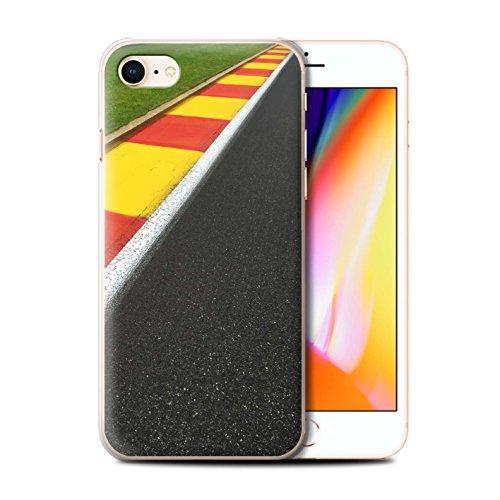 Stuff4 Hülle / Case für Apple iPhone 8 / Asphalt/Tarmac Muster / Rennstrecke Foto Kollektion Apex/Schikane
