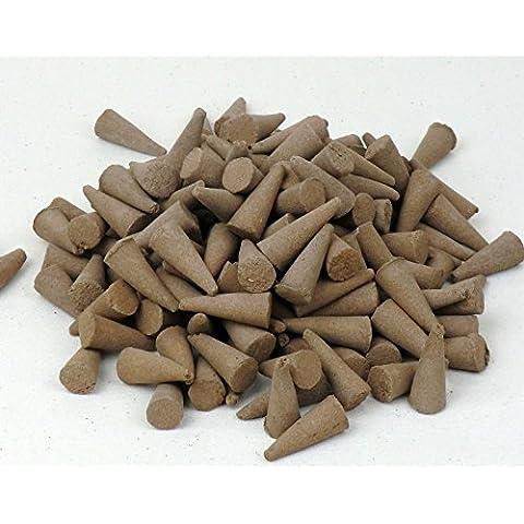 Juego de 100 conos de incienso, olor a sándalo, hecho en Reino Unido, sin colores tóxicos