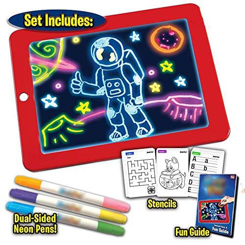 3D Magic LED Schreibtafel, Kreative Art Magic Board Pad Mit Stiftbürste Zeichnung Pad, Tragbare Hi-Tech-Zeichenplatte Für Kinder, Zeichnen, Skizzieren, Erstellen, Kunst, Tablet -