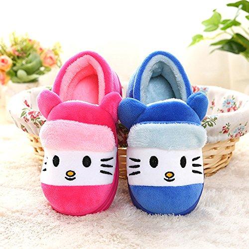 2019 prezzo all'ingrosso dove comprare guarda bene le scarpe in vendita Pantofole Bambino Peluche con Gatto - Ciabatte Invernali ...