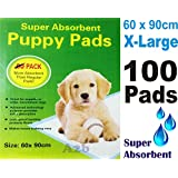 100 x PUPPY DOG TRAINING PEE PADS 60 x 90CM MAT HOUSE TRAINER PET EXTRA LARGE XL