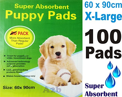 100-x-PUPPY-DOG-TRAINING-PEE-PADS-60-x-90CM-MAT-HOUSE-TRAINER-PET-EXTRA-LARGE-XL