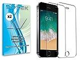 SDTEK *2 Pack Vetro Temperato per iPhone SE / 5S / 5 / 5c Pellicola Protettiva Protezione Protettore Glass Screen Protector