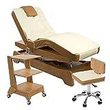 Elektrische Massage / Wellnesskabine Liege + Arbeitsstuhl + Beistelltisch