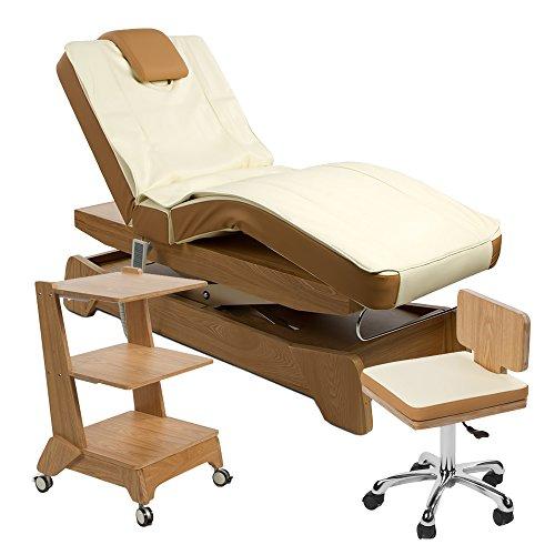 Preisvergleich Produktbild Elektrische Massage / Wellnesskabine Liege + Arbeitsstuhl + Beistelltisch