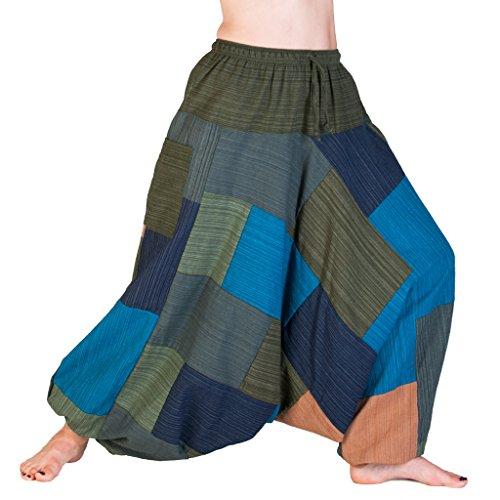 PANASIAM Aladin Pants 'Linie',Patchwork (Rio Festival Kostüm)