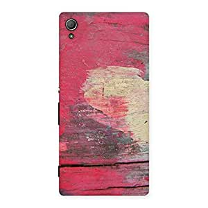 Vintage Red Yellow Print Back Case Cover for Xperia Z4