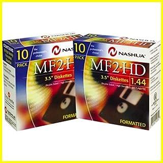 2x 10Packungen Nashua (Disketten MF 2HD Computer PC Disketten formatiert 1,44MB 8,9cm