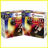 Disquetes para ordenador Nashua disquetes MF 2HD formateados de 3,5pulgadas y 1,44MB, 2 paquetes de 10 unidades